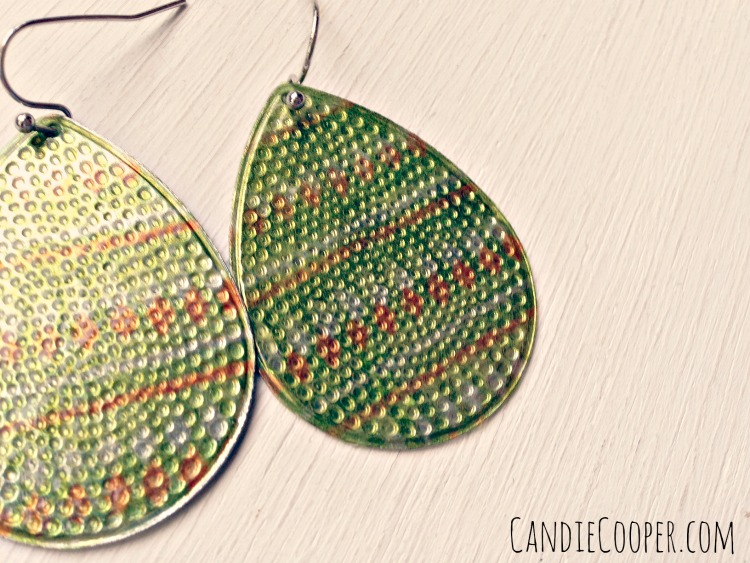 Green Earrings with Craft Attitude