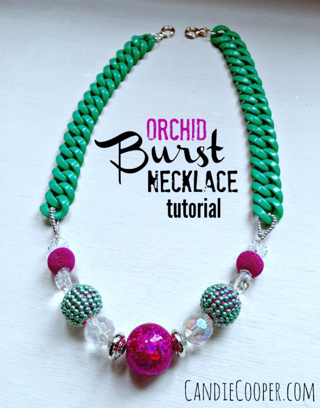 Jewelry Making Orchid Burst Necklace Tutorial2