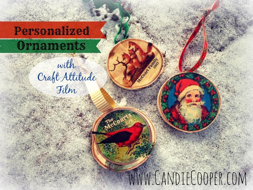 Candie Cooper Birchwood Christmas Ornament  1Ab