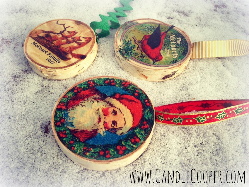 Candie Cooper Birchwood Christmas Ornament 2A