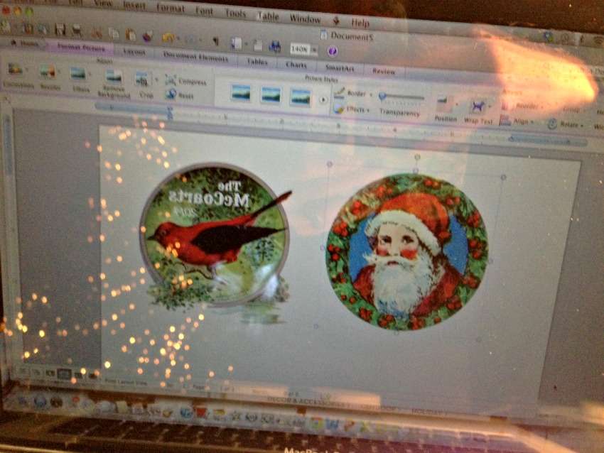 Candie Cooper Christmas Birchwood Ornamnet 6