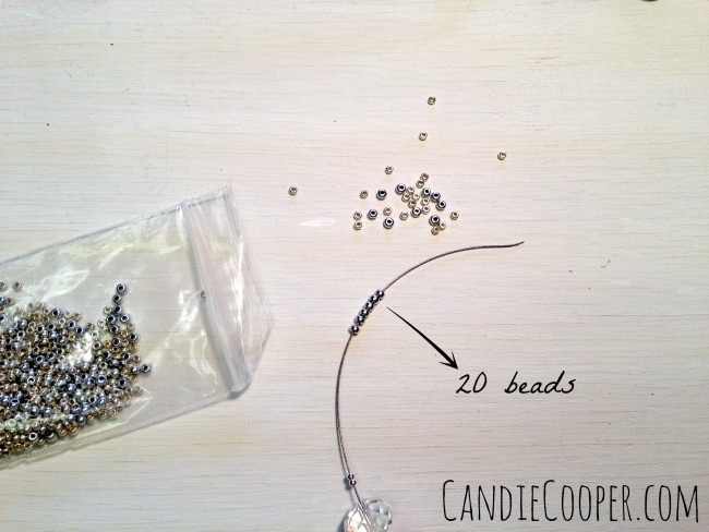 String a row of seed beads
